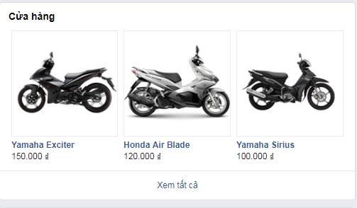 Hình ảnh giá thuê xe máy trên fanpage Facebook Motogo