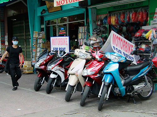 địa chỉ thuê xe máy phố cổ Hà Nội