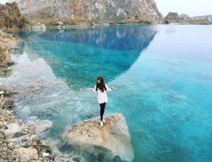 Hồ nước xanh tại Hải Phòng