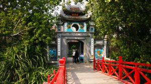 Lối vào đền Ngọc Sơn