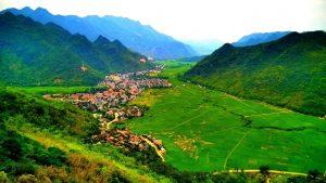 Toàn cảnh thung lũng Mai Châu
