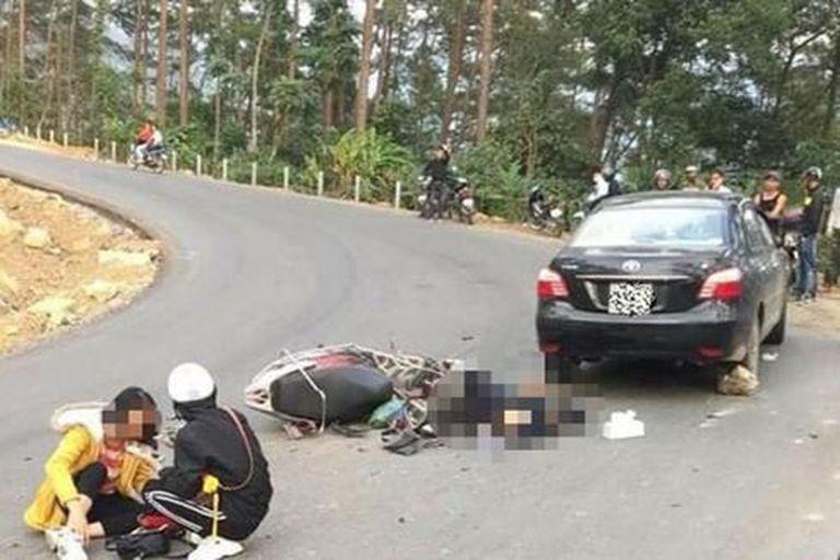 Tai nạn kinh hoàng khi đổ đèo bằng xe tay ga tại Tam Đảo