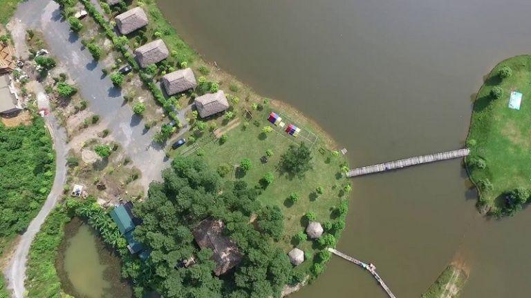 khu du lịch bản xôi village từ trên cao
