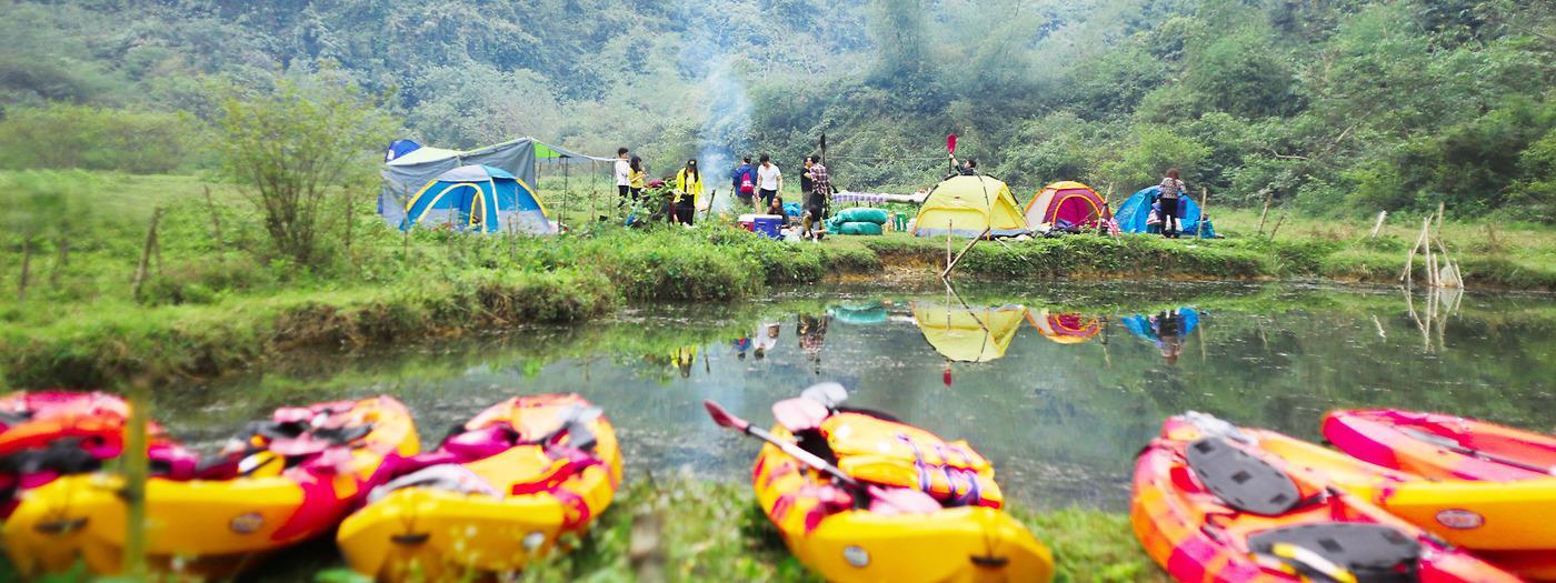 Cắm trại ở Thung Nham