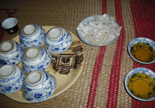 bữa cơm đơn giản tại làng cổ đường lâm