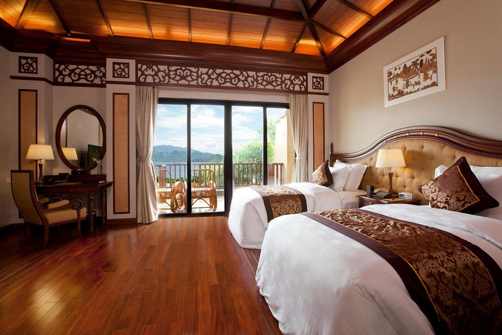 Phòng ngủ sang trọng của Vinpearl Luxury Resort Nha Trang