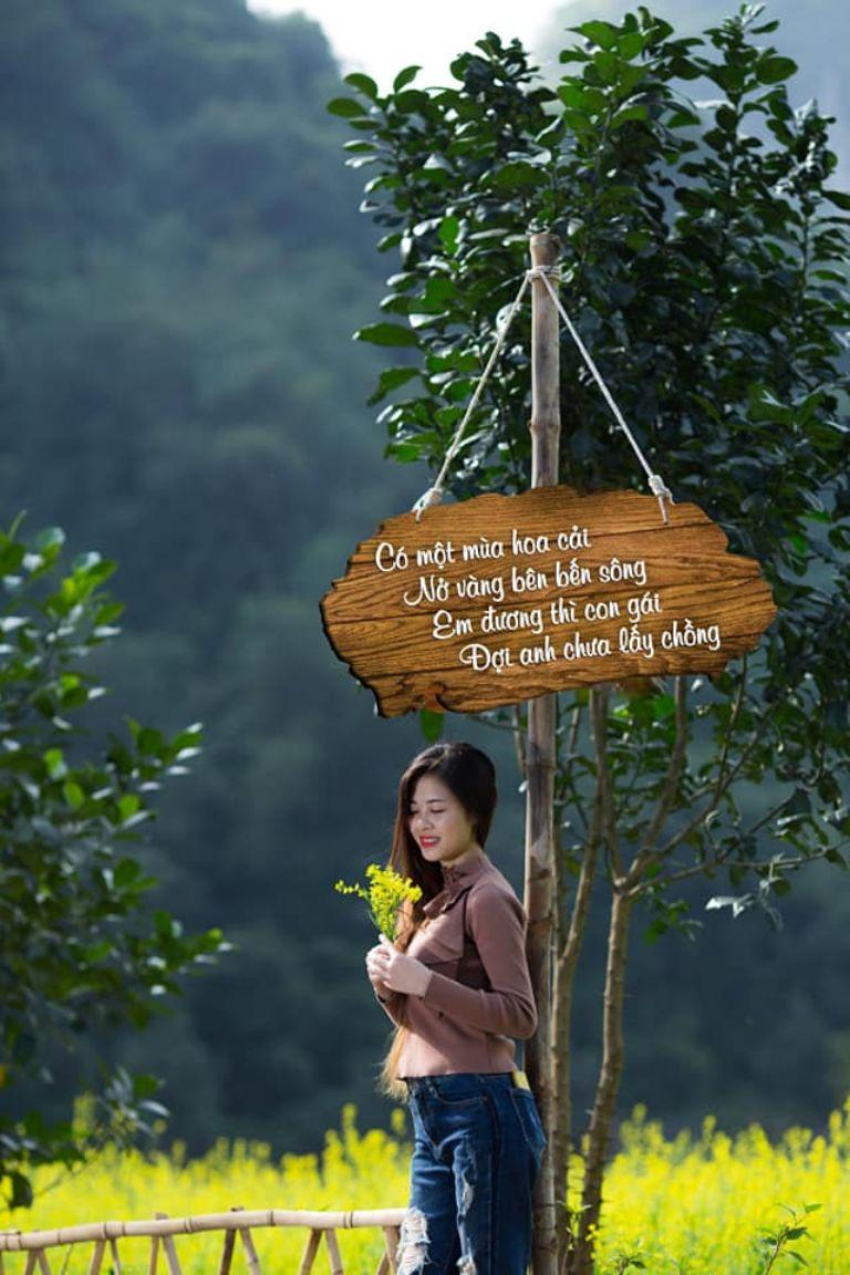 Vườn cải - vườn Thung Nham