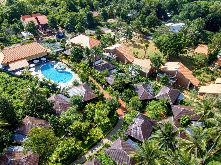 Toàn cảnh không gian xanh mát của Elwood Phú Quốc