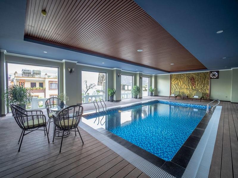 Bể bơi bốn mùa ở Pistachio Sapa mát về mùa hè, ấm về mùa đông