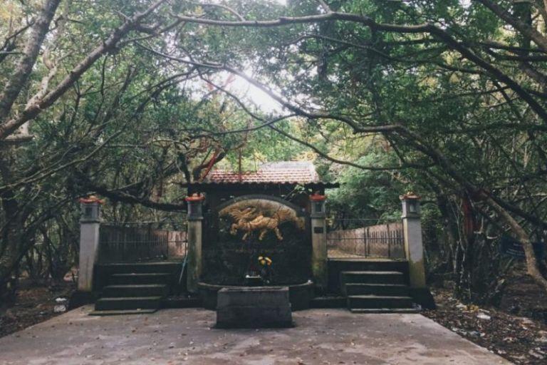 Ngôi chùa nằm ở sâu trong rừng Rú Chá