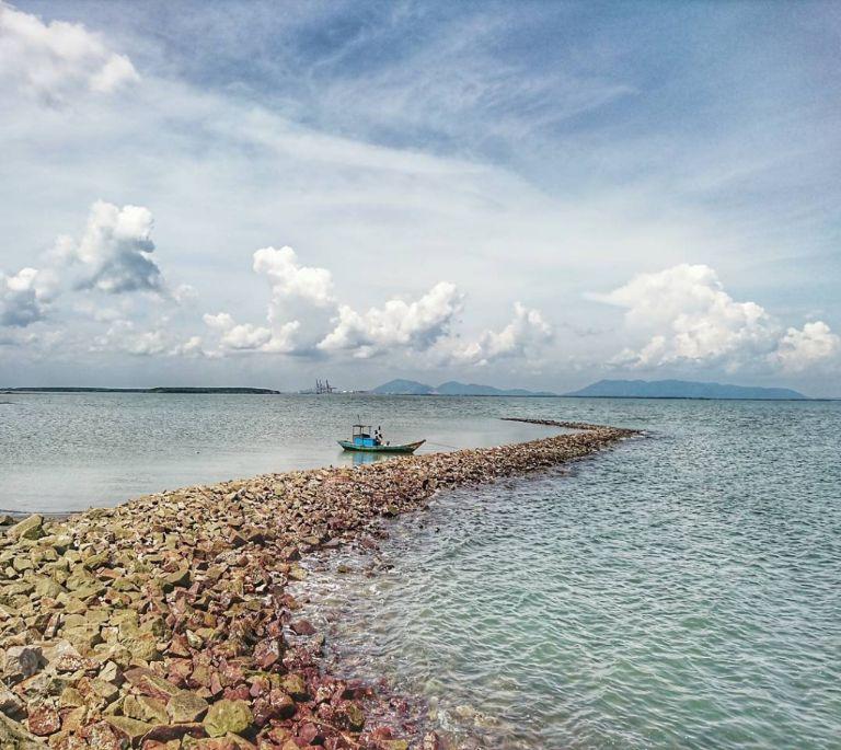 Cảnh biển ở Cần Giờ