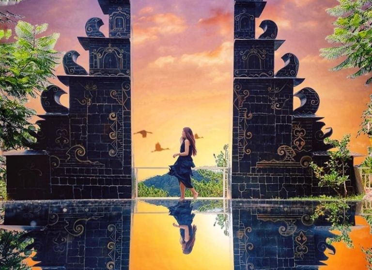 hoàng hôn tại cổng trời đà lạt