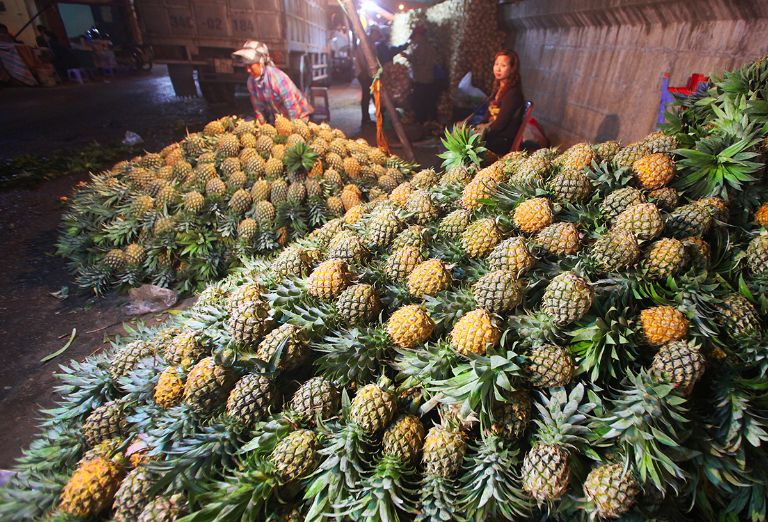 Chợ hoa quả đầu mối Long Biên