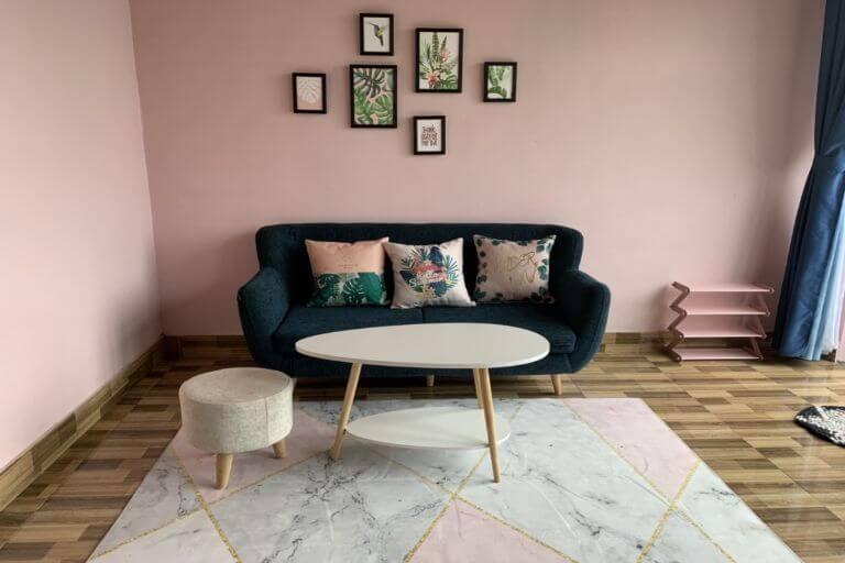căn nhà với gam màu hồng mang lại cảm giác thơ mộng