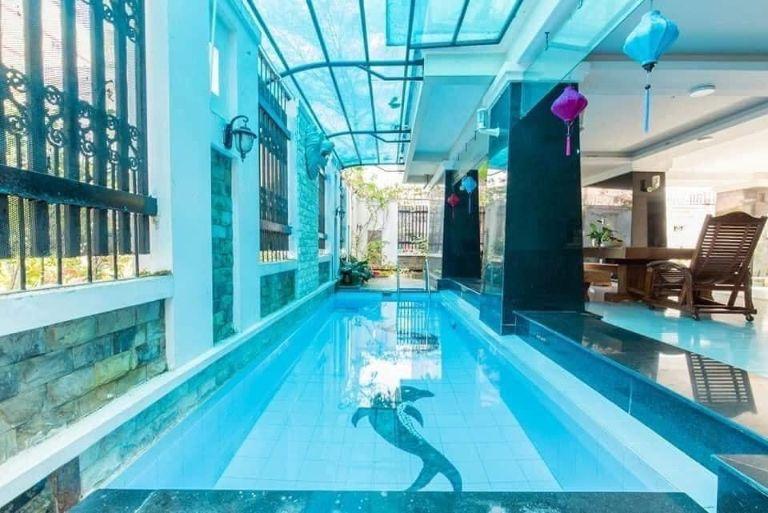 không gian bể bơi tại Chill Villa
