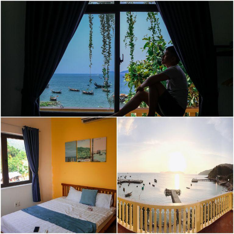 phòng và view hướng biển tại sunbay homestay hội an
