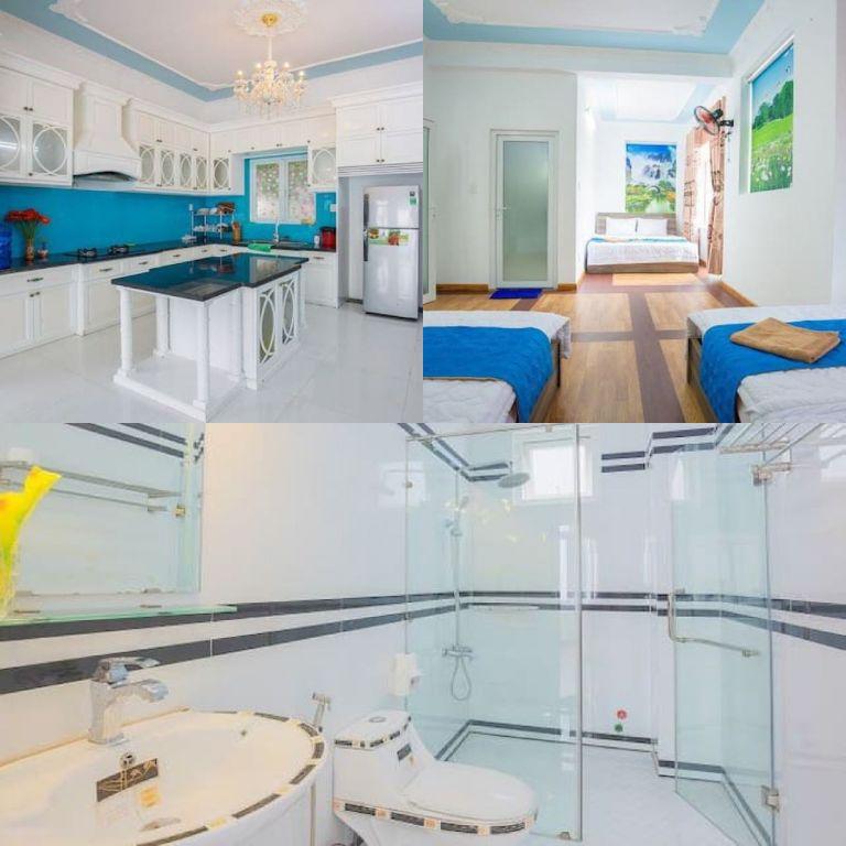 phòng ngủ thoáng mát tại homestay Vũng Tàu