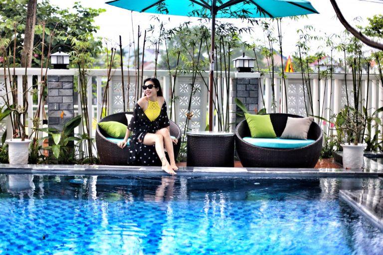 bể bơi tại Gateway inn Hoi An