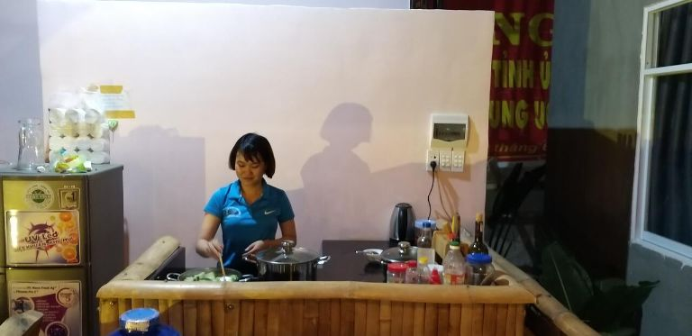 phòng bếp tại homestay daklak