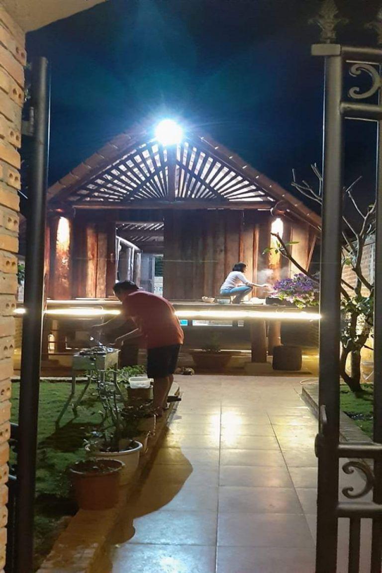 không gian sinh hoạt tại nhà sàn homestay tại daklak