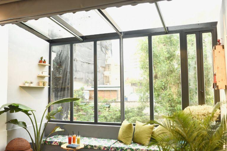 không gian ngắn nhìn hướng ánh sáng tại homestay hà nội giá rẻ cho sinh viên