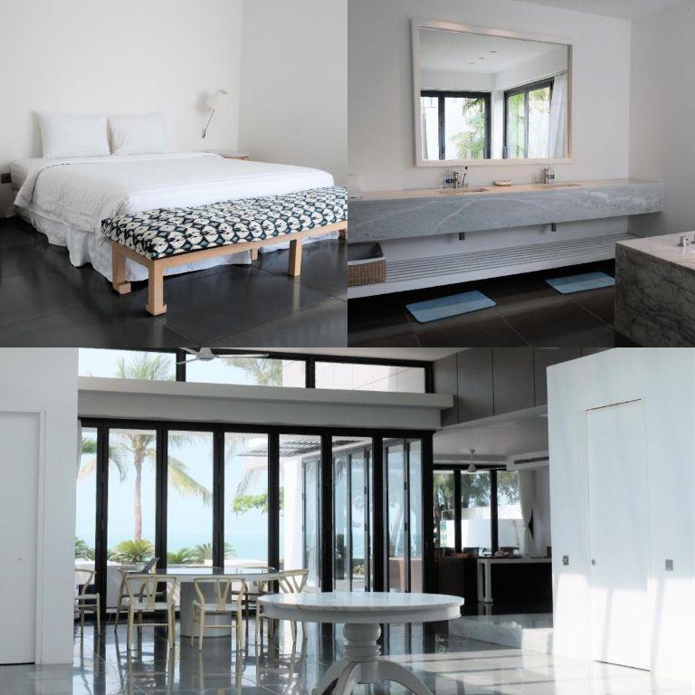 phòng ngủ trang nhã tại villa no5