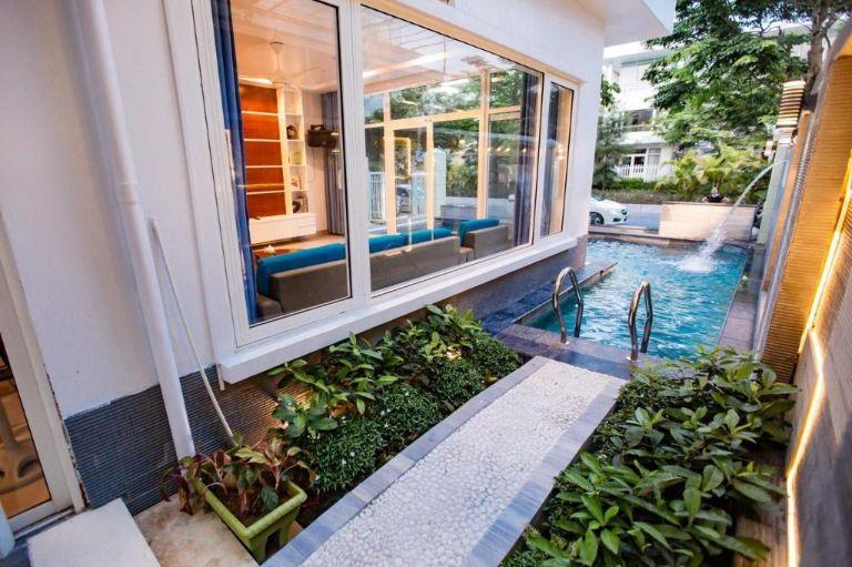 hồ bơi tại villa nt 50 flc sầm sơn
