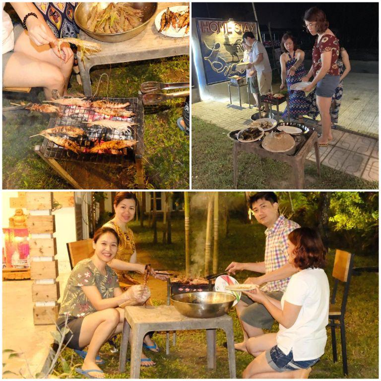 BBQ tại làng biển homestay quảng ngãi
