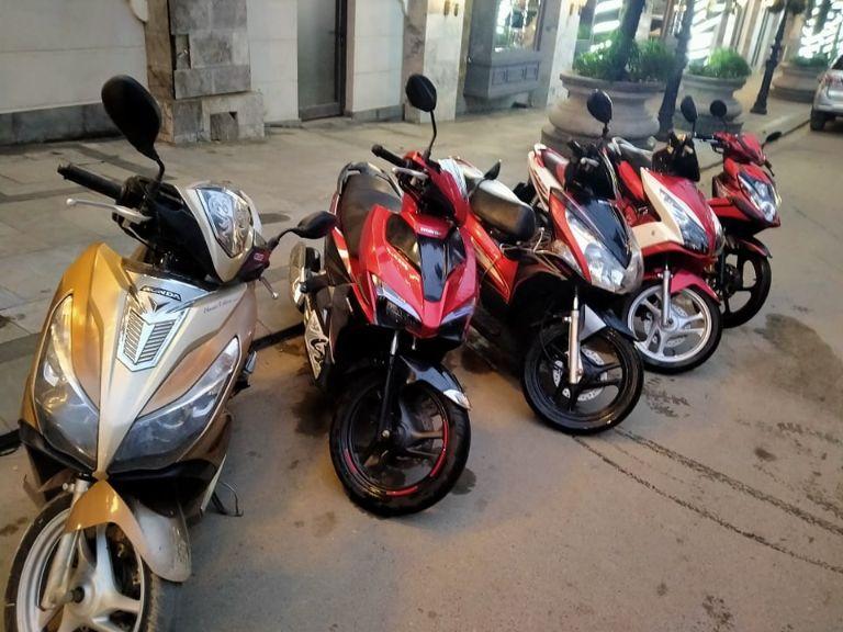 thuê xe máy ở Sapa Tám Trần