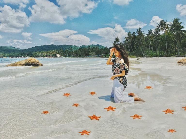Bãi biển này có nhiều sao biển