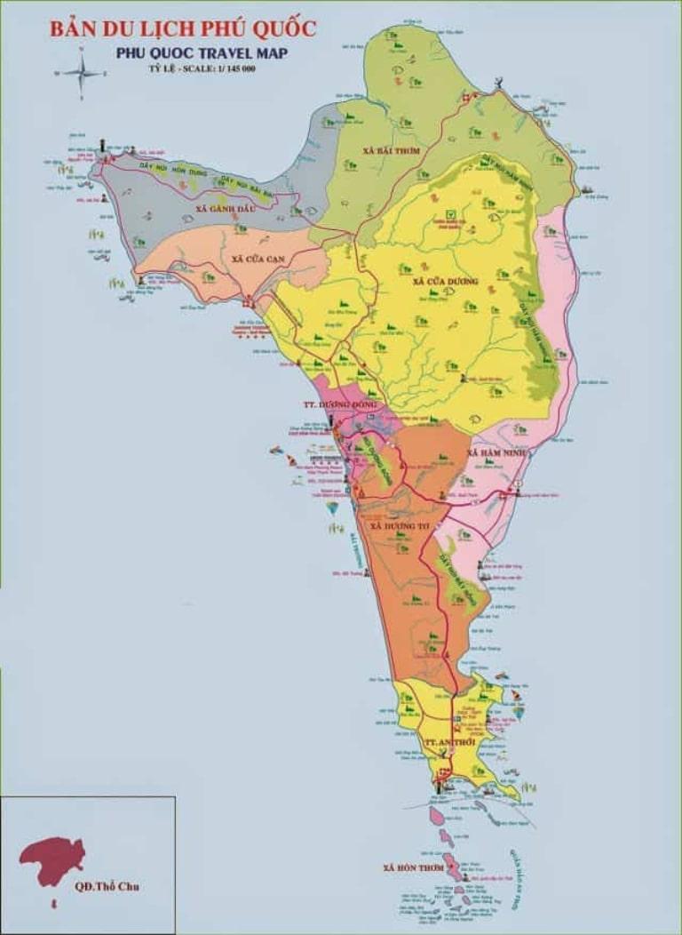 Các địa điểm nổi tiếng trên bản đồ du lịch của đảo ngọc Phú Quốc