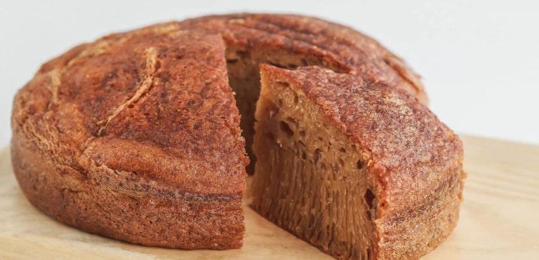 Đi từ xa đã thấy mùi thơm của bánh bò thốt nốt