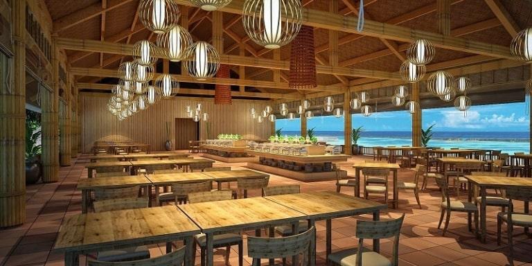 Địa điểm ăn uống tại đảo này có view rất đẹp