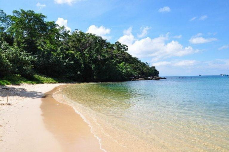 Những rặng cây ăn sát ra mặt nước biển tạo nên một bức tranh tuyệt đẹp