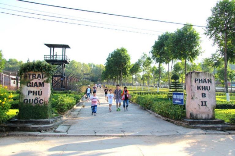 Nhà tù ở đảo Phú Quốc được chia thành nhiều phân khu khác nhau