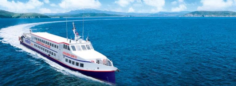 Tàu cao tốc đi Phú Quốc Hòa Bình SeaBus sử dụng động cơ của Mỹ nên hoạt động rất ổn định