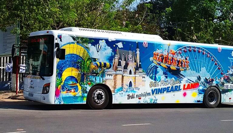 Xe bus của Vinpearl đón, trả khách hoàn toàn miễn phí tại các điểm cố định