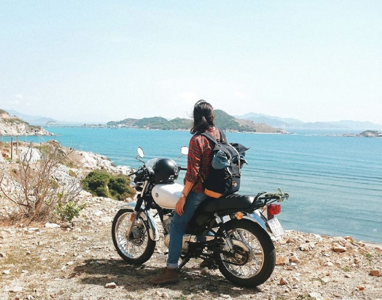 Motorcycle is the best choice to explore the pearl island national park