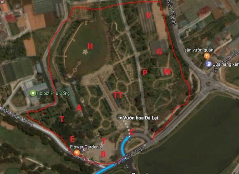Bản đồ Đà Lạt trên ứng dụng Google Maps