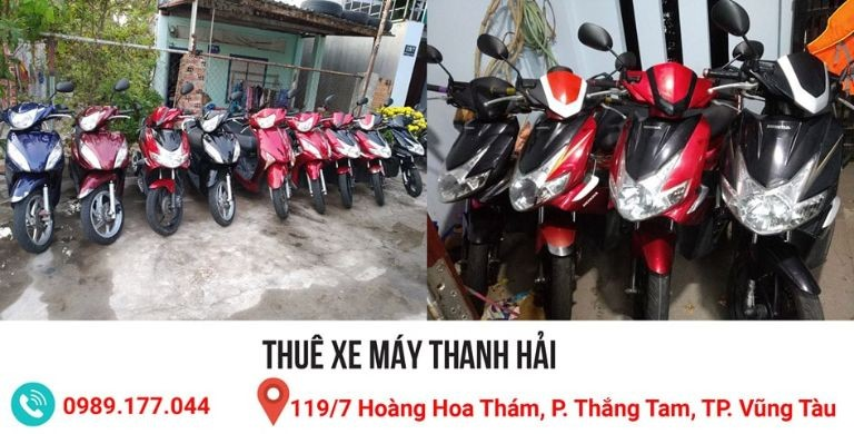 Thuê xe máy tại Vũng Tàu, Thanh Hải
