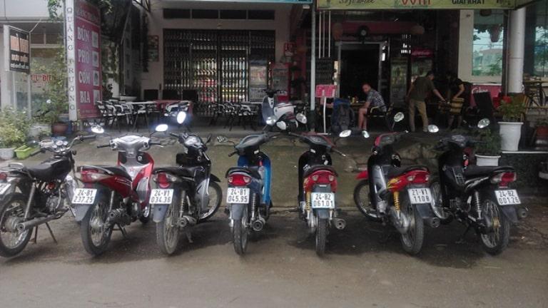 Thuê xe máy ở Cafe Thu
