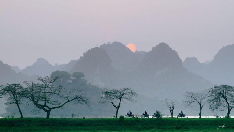 khung cảnh Quan Sơn lúc chiều tà