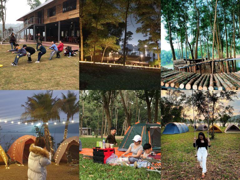 Toàn cảnh khu cắm trại Camping Sport
