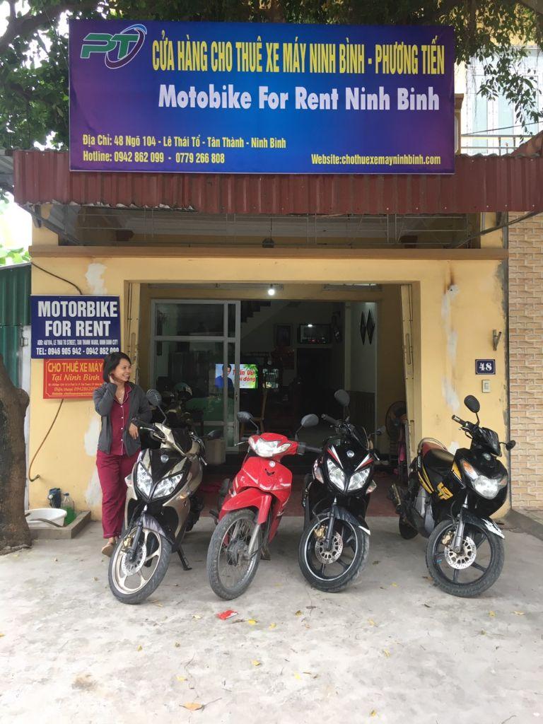 thuê xe máy phương tiến Ninh Bình