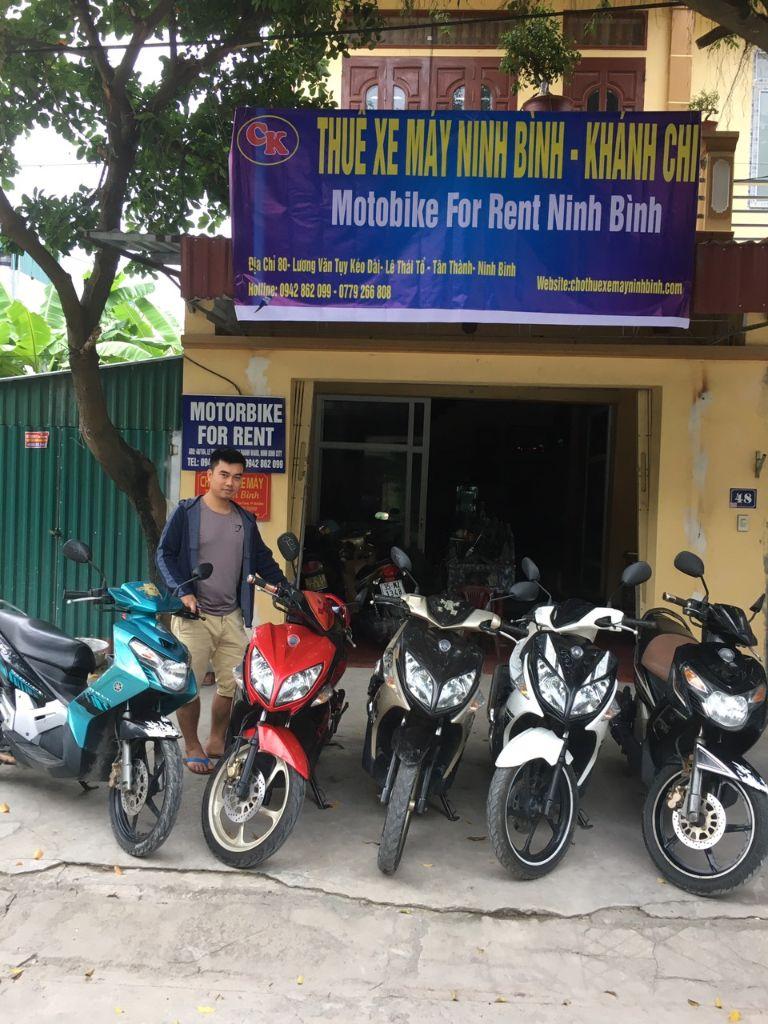 thuê xe máy tại ninh bình khánh chi