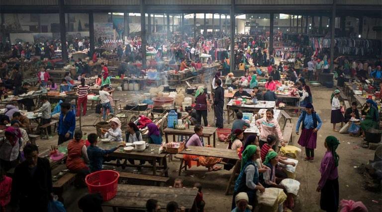 Một khu chợ nổi tiếng ở Mèo Vạc, Hà Giang