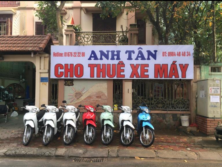 Anh Tân cho thuê xe máy tại Hà Đông.