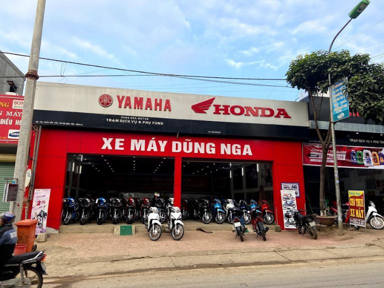 Cửa hàng thuê xe máy Sơn La Tà Xùa Dũng Nga có quy mô rất lớn