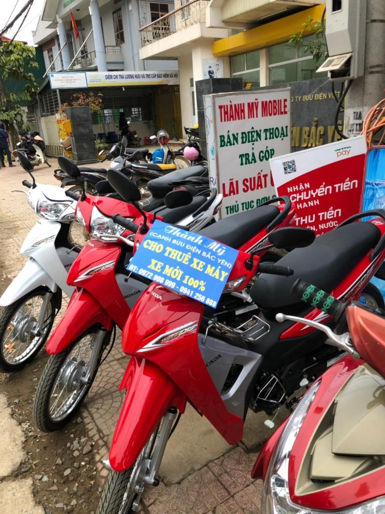 Thàn Mỹ là cửa hàng cho thuê xe máy Sơn La nổi tiếng ở Bắc Yên