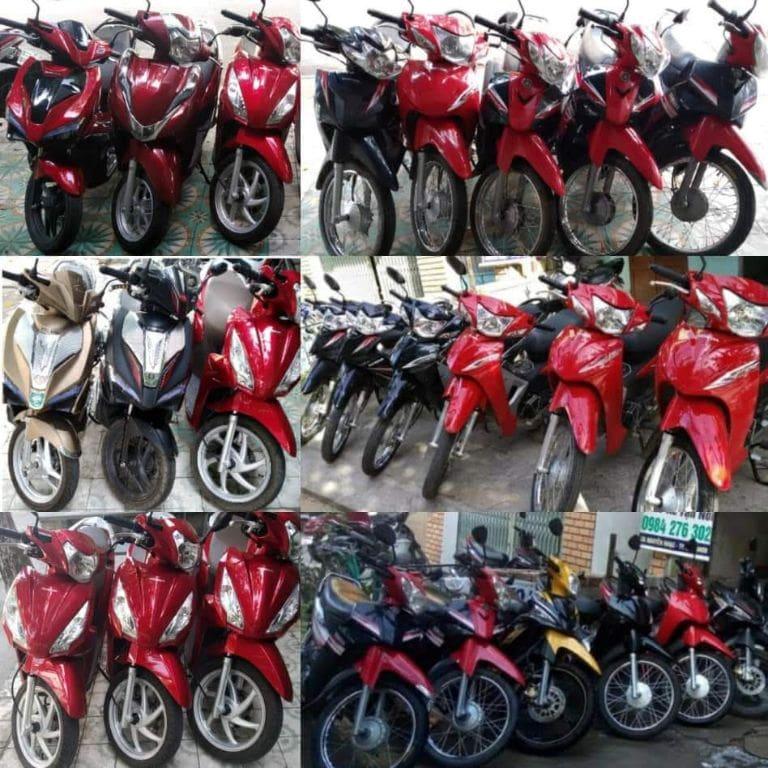 xe máy tại cửa hàng anh Trưởng